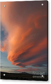 Heart Mountain Cirrus Sunset-signed Acrylic Print