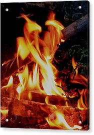 Heart Of Fire Acrylic Print