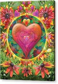 Heart Of Flowers Acrylic Print by Alixandra Mullins