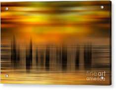 Heart Of Gold - A Tranquil Moments Landscape Acrylic Print by Dan Carmichael