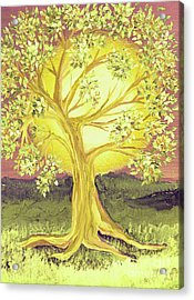 Heart Of Gold Tree By Jrr Acrylic Print