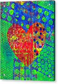 Heart Of Hearts Series - Cheers Acrylic Print by Moon Stumpp