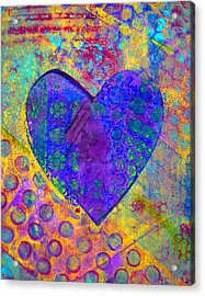 Heart Of Hearts Series - Compassion Acrylic Print by Moon Stumpp