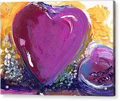 Acrylic Print featuring the painting Heart Of Love by Bernadette Krupa