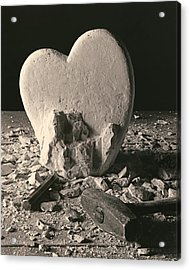 Heart Of Stone C1978 Acrylic Print by Paul Ashby