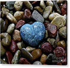 Heart Of Stone Acrylic Print by Lisa  Telquist