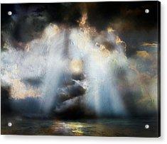 Heart Of The Storm - Abstract Realism Acrylic Print by Georgiana Romanovna