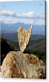 Heart On A Journey Acrylic Print by Lainie Wrightson