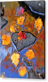 Heart Rock Reflections Acrylic Print