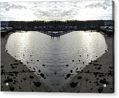 Heart  Shape In The Harbor Acrylic Print