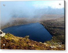 Heart Shape Lake Lough Ouler Wicklow In Ireland Acrylic Print