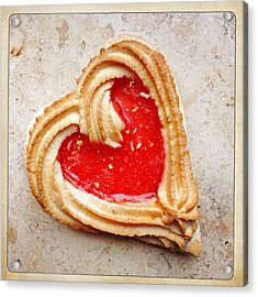 Heart Shaped Cookie Square Format Acrylic Print