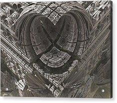 Heart-shaped Mandelbox Acrylic Print