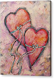 Heart Strings Acrylic Print by Carol Suzanne Niebuhr