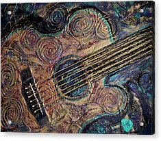 Acrylic Print featuring the mixed media Heart Strings by Gigi Dequanne