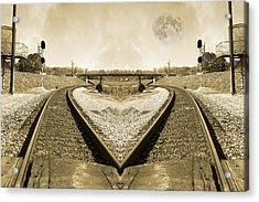 Heart Tracks Acrylic Print by Betsy Knapp