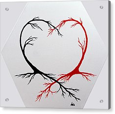 Heart Trees - Arteries Of Love Acrylic Print by Marianna Mills