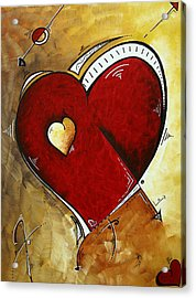 Heartbeat By Madart Acrylic Print by Megan Duncanson