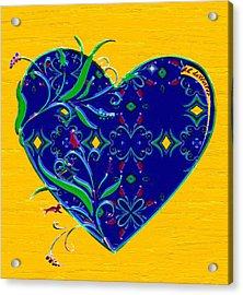 Heartbloom Acrylic Print by RC deWinter