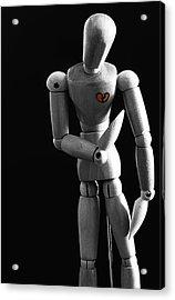 Heartbroken Mannequin Acrylic Print