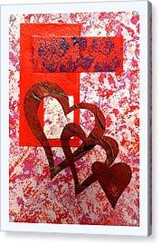 Heartfelt Thanks Acrylic Print by Darren Robinson