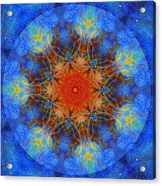 Heartfire Acrylic Print by Janelle Schneider