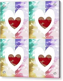 Acrylic Print featuring the digital art Heartful by Ann Calvo
