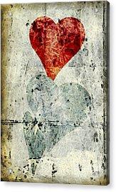 Hearts 1 Acrylic Print by Edward Fielding