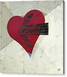 Hearts 7 Square Acrylic Print by Edward Fielding