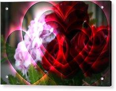 Hearts A Fire Acrylic Print