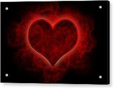 Heart's Afire Acrylic Print