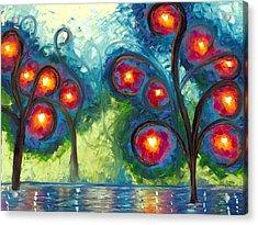 Hearts Afire Acrylic Print by Jessilyn Park