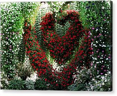 Acrylic Print featuring the photograph Hearts And Flowers by Jennifer Wheatley Wolf