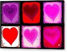 Hearts Acrylic Print by Cindy Edwards