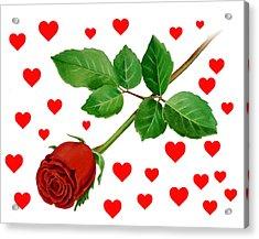 Hearts For Valentine Acrylic Print by Irina Sztukowski