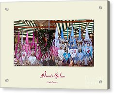 Hearts Galore Acrylic Print by Linda Prewer