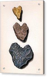 Hearts Rock Acrylic Print
