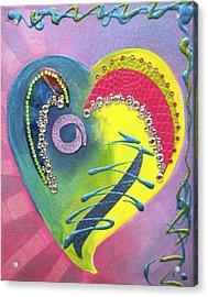 Heartworks Acrylic Print by Debi Starr