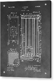 Heater Patent Acrylic Print by Dan Sproul
