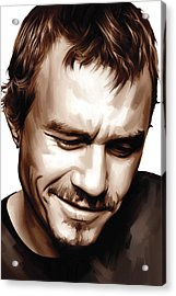 Heath Ledger Artwork Acrylic Print