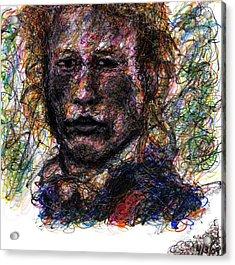 Heath Ledger As Gabriel Martin - The Patriot Acrylic Print by Rachel Scott