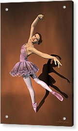 Heaven - Ballerina Portrait Acrylic Print by Andre Price