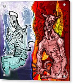 Heaven And Hell - New School Tattoo Art Acrylic Print by Gregory Dyer