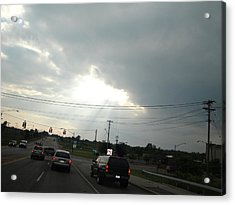 Heaven Lighting The Way Acrylic Print by Suzanne Perry