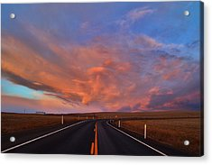 Acrylic Print featuring the photograph Heavenly Clouds by Lynn Hopwood