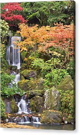 Heavenly Falls And Autumn Colors Acrylic Print