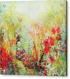 Heavenly Garden Acrylic Print by Katie Black