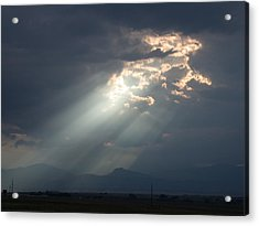 Acrylic Print featuring the photograph Heavenly Rays by Shane Bechler