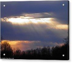 Heavenly Sunset Acrylic Print by Nick Kirby
