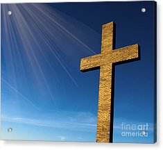 Heaven's Cross Acrylic Print by Michael Waters